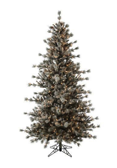 Frosted Christmas Tree with Clear, Multi Colored or Unlit 4.5 fot to 12 ft