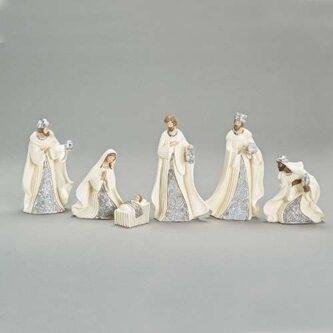 Six piece lazer cut nativity
