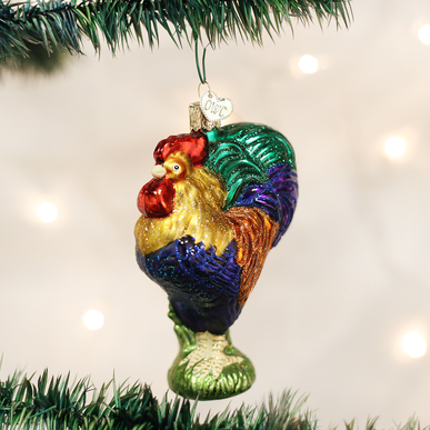 Old World Christmas Blown Glass Heirloom Rooster Ornament Christmas Store