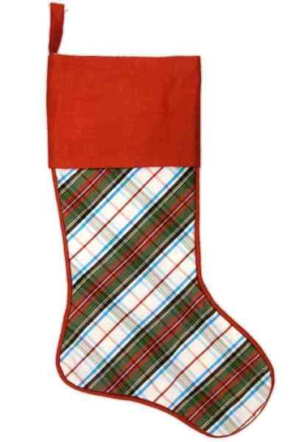 Faux Duponi Christmas Stocking