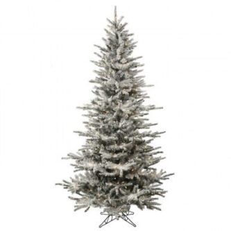 Slim Alaskan Frosted Tree with large and small lights