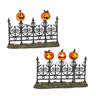 Dept 56 Halloween Village Jack O Lantern Fence Lit