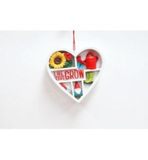 Heart Shaped Garden Ornament with Garden accesories