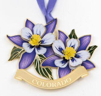 Columbine Colorado Ornament