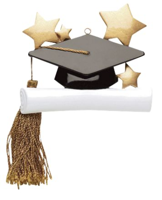 Graduation Cap with Stars and a Scroll Personalize