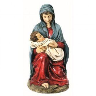Virgin Mary holding Baby Jesus Centerpiece of Eleven Piece Set