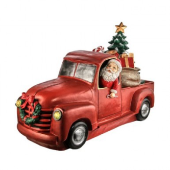 Santa in a Red Truck Light up Outdoor decor