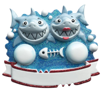 Family of Two Shark Ornament