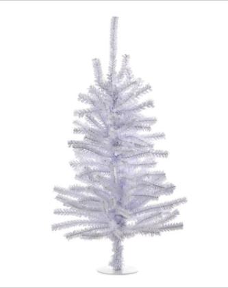 """18"""" Shiny White Tree"""