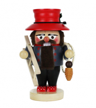Chimney Sweep Nutcracker with Ladder and Brush