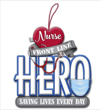 Hero Nurse Ornament with Mask and Stethoscope