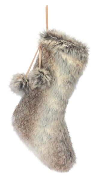 Earthtone Faux Fur Stocking