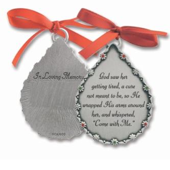 Teardrop Memorial Ornament for Her Metal