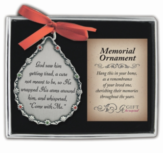 Teardrop Memorial Ornament for Him