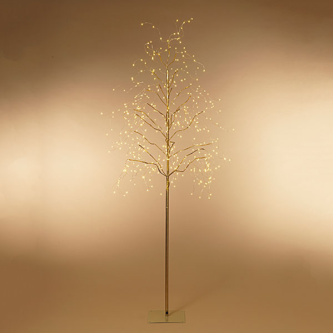 Gold Tree with Warm White lights 6' Christmas decor