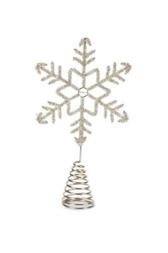 Silver Snowflake Tree Topper