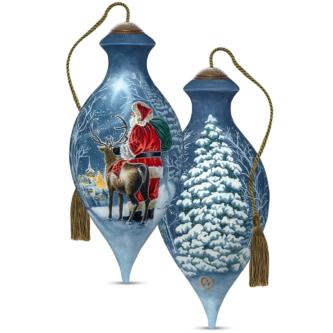 Starry Night Santa NeQua Ornament