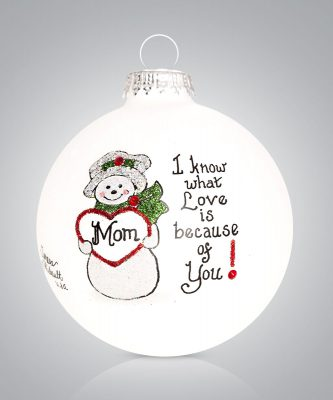 Mom Ornament Love Mom Personalize
