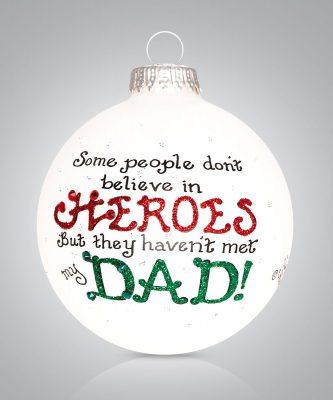 Hero Dad Ornament Personalize