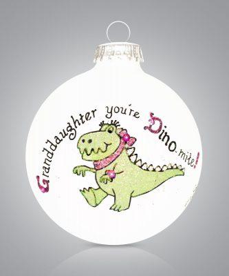 Granddaughter Dino Mite Dino Ornament Personalize