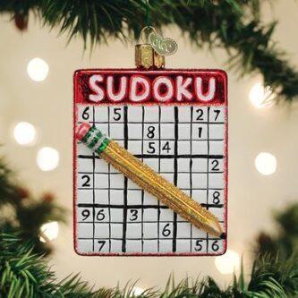 Sudoku Ornament Old World Christmas