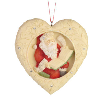 Heart with Santa Checking His List