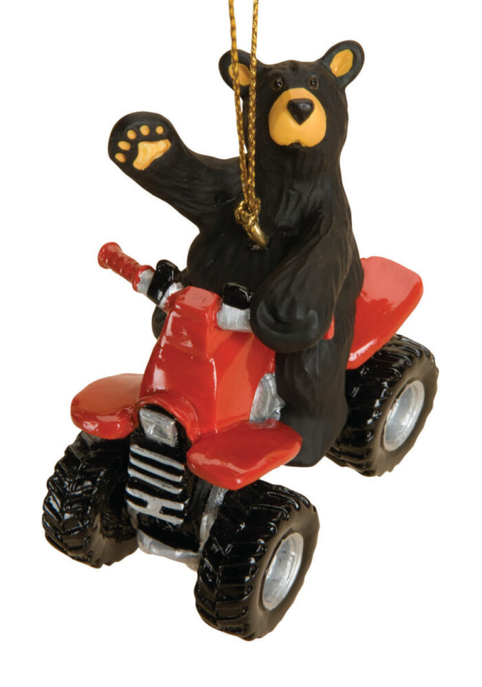 Black Bear On A ATV Bearfoot Bear Ornament