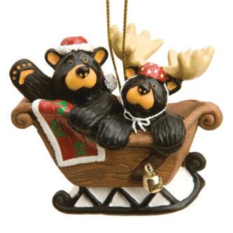 Sleigh Ride Bearfoot Bears Ornament