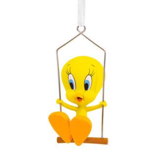 Tweety Bird on a Swing Ornament