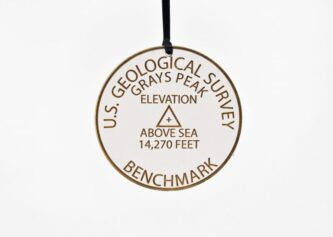 Grays Peak Geological Benchmark Ornament Colorado Fourteeners