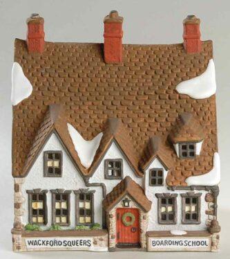 Dickens' Village Retired Nicholas Nickleby Wackford Squeers Boarding School
