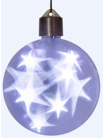 LED Battery Starfire Sphere Cool White