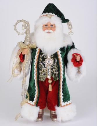 Karen Didion Emerald Elegance Santa