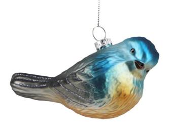 Glass Bluebird ornament