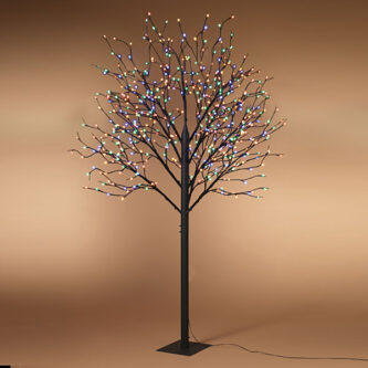 8' electric tree with 540 led lights 10 branches use indoor or outdoor vivid color