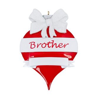 Brother personalized ornament ornamen shaped