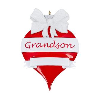 Grandson personalized ornament ornament shaped