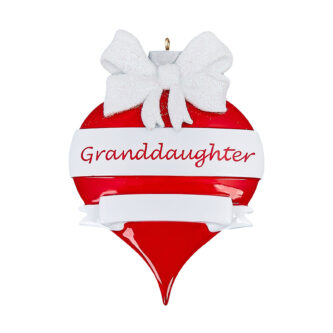 Granddaughter personlized ornament ornament shaped