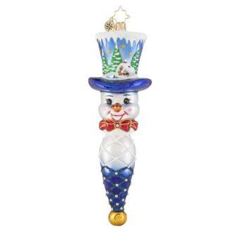 Radko Jolly Top Hat Snowman ornament