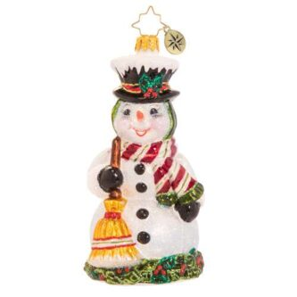 Radko Happy in Holly Snowman ornament