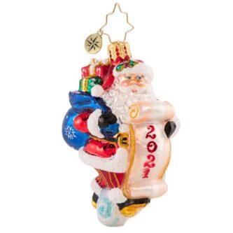 Radko Santa Saves the Date Gem Ornament