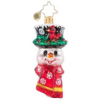 Radko a snowman worth flocking To Gem Ornament