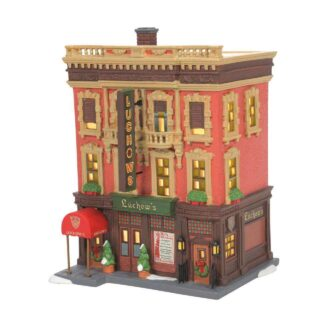 Luchow's German Restaruant Christmas in the City Village Dept. 56