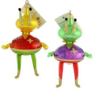 Radko Vintage Itatian Space Buddies Ornament Rare Retired