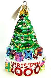 Radko Rare Vintage Retire Tree Trimmed Date Christmas 2000 Ornament