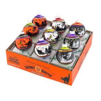 "Radko 9 count 2.5"" Signature Flocked Rounds Ornaments"