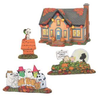 Dept. 56 Peanuts Halloween House Trick or Treat Lane