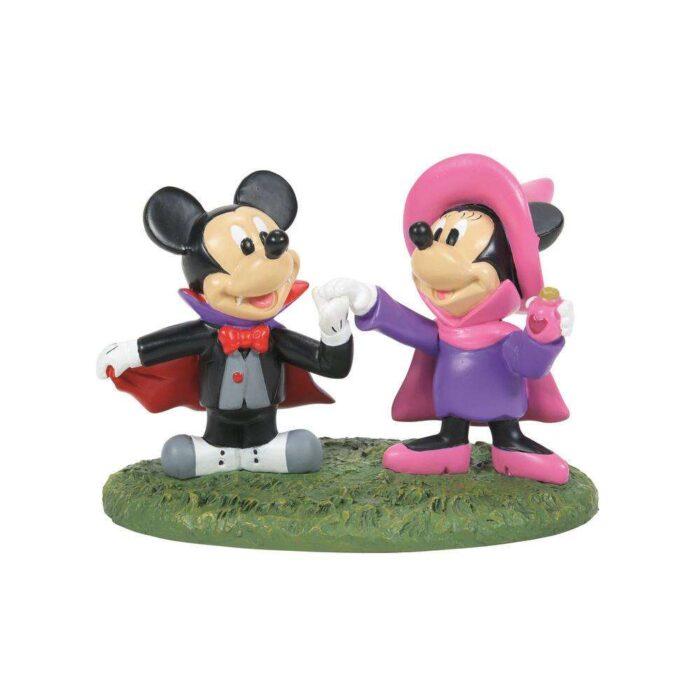 Dept. 56 Disney Mickey's Halloween Village Mickey & Minnie's Costume Fun