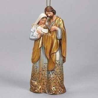 Holy Family Golden Ombre Ornament