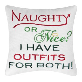 Naughty Or Nice? Outfits Pillow